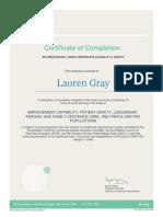 gray ihi certification