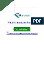 Playboy Magazine India PDF