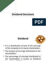 Dividend Decisions