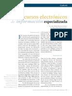 Los Recursos Electronicos de Informacion