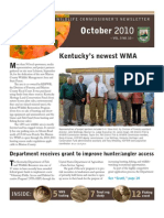 Kentucky Department Fish Wildlife Oct 2010 Newsletter