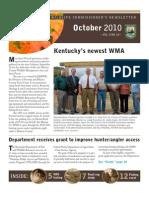 Kentucky Department Fish Wildlife Oct 2010 Newsletter