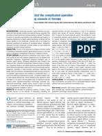 Sainz Et Al. a Simple Predictive Model for Complicated Operative Vaginal Deliveries