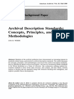 Archival Description Standards- Concepts, Principles, And Methodologies