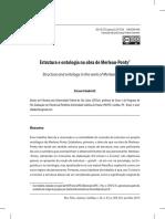 Estrutura e Ontologia Na Obra de Merleau-Ponty
