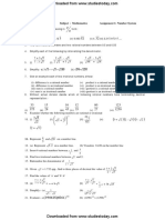CBSE Class 9 Mathematics Worksheet (2)