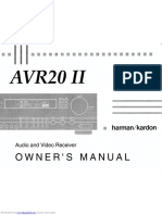 Harman Kardon AVR20ii Manual