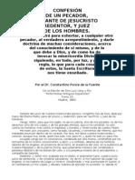 Confesión de un Pecador - Constantino Ponce de la Fuente