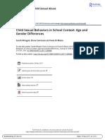 11. Conductas Sexualizadas en La Infancia en El Contexto Escolar - Diferencias de Edad y Genero