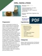 Biscottis Al Tomillo, Menta y Limón