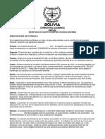 Escritura de Constitución de Sociedad Anónima