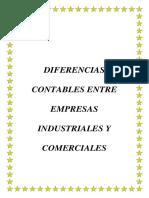 Diferencias Contables Entre Empresas Industriales y Comerciales Nuevo