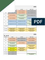 Horarios de Clases Para El Periodo Marzo-Agosto2019 Adm.emp