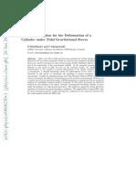 Solución Analítica Para La Deformación de Un Cilindro Bajo Las Fuerzas Gravitacionales de Marea