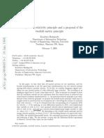 La Invalidez Del Principio de Relatividad y Una Propuesta Del Doble Principio Métrico
