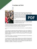 Material Informativo Lo Cholo y El Racismo en El Perú