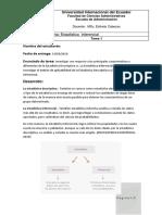 Características y diferencias de la Estadística Descriptiva vs. la Estadística Inferencial.