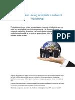 Por Qué Leer Un Log Referente a Network Marketing