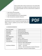 Initial Environment Examination Report