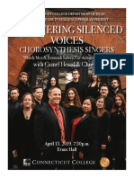 Empowering Silenced Voices Concert Program 2019