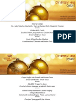 Crowne Plaza Bucharest Xmas Set Menus
