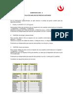 Ejercicio Cálculo de Análisis de Precios Unitarios 2015 2