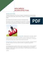Fútbol Para Niños Comunicación Efectiva.