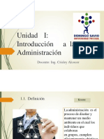 Unidad i Introducción a La Administracion