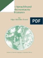 Balkan Sprachbund Morpho-Syntactic Features