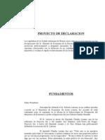 Declaracion - Preocupación por las declaraciones de Boudou por caso Larrosa