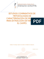 Estudios comparativos de caracterización