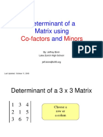 Determinants - Cofactors