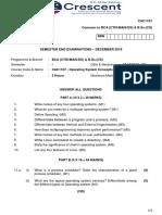 Os Semester End Examination Paper