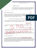 Communication Notes 2nd Sem