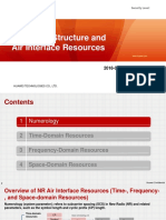 NR Frame Structure and Air Interface Resources