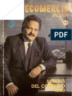 Revista Consecomercio al Día Año 1 No.2 - Noviembre Diciembre 1990 - Portada Edgard Romero Nava