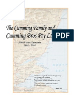 Cumming Bros Family History, authored by James A Cumming