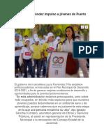 Laura Fernández impulso a jóvenes de Puerto Morelos
