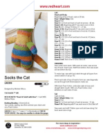Socks the Cat Free Knitting Pattern from Red Heart