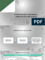 Orientación-intervención individual- programa de psicoorientación