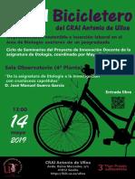 """En el Bicicletero del CRAI. """"De la asignatura de Etología a la investigación con crustáceos caprélidos"""""""