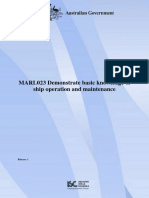 MARL023_R1 Demonstrate Basic Knowledge of Ship Operation and Maintenance