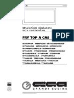FRY TOP a GAS. Istruzioni Per Installazione, Uso e Manutenzione