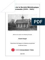 Les Russes de la Société Métallurgique de Normandie (1919 – 1941)