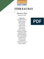 Business Plan Better Eat Day