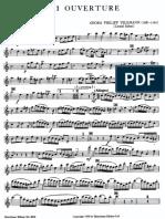 Telemann - Ouverture-Suite, TWV55a2 Flutepart