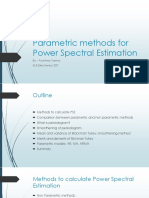 Parametric Methods for Power Spectral Estimation