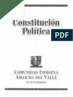 Constitution Politica de La Comunidad Indigena Amaicha Del Valle / TC / 2006