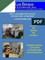 Centro de Día los Brezos de Gandia con el día mundial del Alzheimer 2010