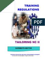 TR - Tailoring NC II